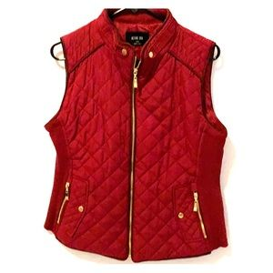 Deep burgundy vest